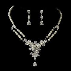 Affordable Elegance Bridal - Vintage Inspired Pearl and CZ Wedding Jewelry Set , $74.99 (http://www.affordableelegancebridal.com/vintage-inspired-pearl-and-cz-wedding-jewelry-set/)