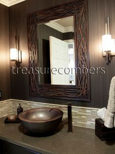 Uttermost // Dorigrass Forged Metal Beveled Wall Mirror