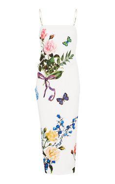 Monique Lhuillier - Printed Column Midi Dress