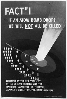 "Until Cancer knocks on your door, ""Hi! I Believe an Atomic Bomb sent me to you."""