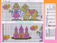 100%_ponto_cruz: Castelo de princesa