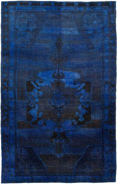 Overdyed rugs are bold in colors to become a rich ambiance into your room. Vintage overdyed area rugs are plentiful in choices to become inspirations Textiles, Le Grand Bleu, Hallway Carpet, Mood Indigo, Indigo Blue, Cobalt Blue, Carl Larsson, Thomas Kinkade, Magic Carpet