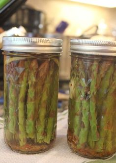 Canning: Pickled Asparagus (use in Bloody Marys in place of celery)