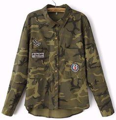 Janie Camo Military Jacket