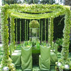 Luxurious Green Tablescape – shared on Wildflower Linen Reception Design, Wedding Reception Decorations, Event Design, Wedding Table, Wedding Mandap, Reception Table, Wedding Receptions, Deco Floral, Floral Design