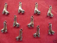 Tibetan silver roller skate charm 10 per pack   eBay