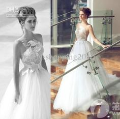 Wholesale 2014 Wedding Dresses - Buy 2013 2014 Wedding Dresses Sheer Neckline One Strap Lace with Flower Tulle Bottom Sweep Train Bridal Dresses Wedding Gown Unique Design, $165.88   DHgate