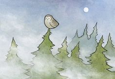 owl-in-fog-and-pines-illustration-print