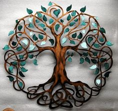 Trendy tree of life wall art diy branches ideas Metal Tree Wall Art, Diy Wall Art, Metal Art, Painted Metal, Celtic Symbols, Celtic Art, Mayan Symbols, Egyptian Symbols, Ancient Symbols
