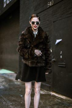 Coco Rocha at NYFW —Street Style, Day One: Amazing Coats, Big Jewels - NYFW Fall 2014 via @Racked