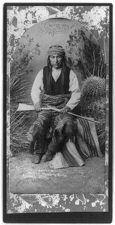 Ka A TE Nay or 'Gait En EH' c1884 Indian Head Chief Warm Spring Apaches