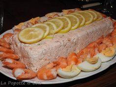 Terrine de Crevettes, saumon et st jacques (thermomix ou pas)