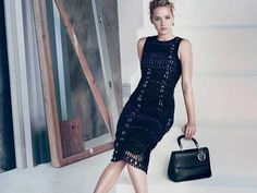 Dior SS15 for bags with Jennifer Lawrence. This bag + this dress is just a perfect combination for elegance and glamour.