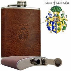 Rodeo, Bottle Bag, Bar Tools, Whisky, Groomsmen, Brown Leather, Stainless Steel, Baron, Cigar