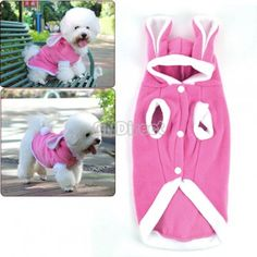 $2.87 Pink Pet/Dog/Cat Cute Rabbit Warm Pet Dog Clothes Coat