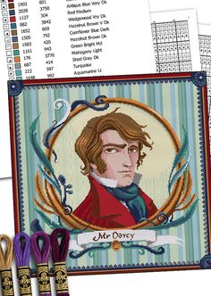 COUNTED STITCH pattern Hug your Darcy Jane by MrsPeggottyArts