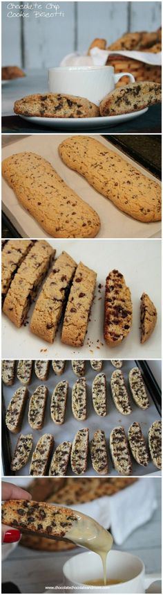 Chocolate Chip Cookie Biscotti crisp vanilla cookie with bursts of mini chocolate chips throughout then for an extra indulgence served with a White Chocolate dipping sauce! #flavorforecast