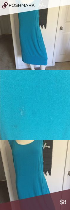 Turquoise blue dress Small stain on front reflected in the price Dresses Midi