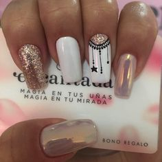 Nails gel, we adopt or not? - My Nails Manicure Nail Designs, Nail Manicure, Nail Art Designs, Black Manicure, Nails Design, Love Nails, Pretty Nails, My Nails, White Nails