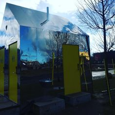 Mirror House - public toilet at skatepark in Roskilde, Denmark. Spotted by @missdesignsays