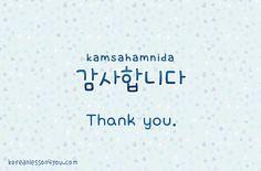 Korean Lessons For You ( Kamsahabnida )