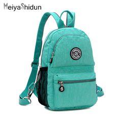 Meiyashidun Leisure Zip Backpack travel Women Backpack Kip Style Fashion Female Waterproof Nylon School Bags For Teenagers Girls #Affiliate