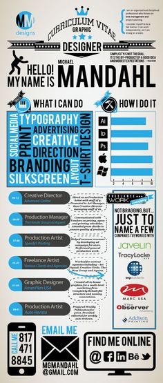 Self Promotion - Infographic Resume by Michael Mandahl, via Behance