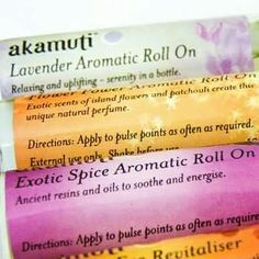 Natural perfume from Akamuti that smells amazing.