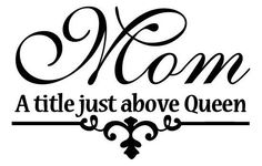 Mothers day Vinyl decal MOM a title just above by VinylSkyGraphics, $14.00