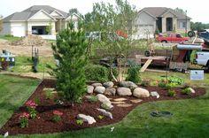 Back Yard Corner Landscaping Shapes