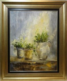 Ana Delgado: Flores blancas Aesthetics, Frame, Painting, Beauty, White Flowers, Wine Cellars, Vases, Canvases, Picture Frame