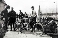 One of the First Production Models of Harley Davidson Motorcycles.