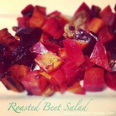 Roasted Beet Salad with Honey Balsamic Dressing | Sassy Southern Yankee