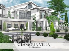 Glamour Villa by Pralinesims at TSR via Sims 4 Updates