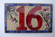 Made to Order Mosaic House number by FunkyMosaicsUK on Etsy, £53.00
