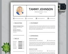 Resume template instant download resume template wordresume | Etsy Teaching Resume Examples, Sales Resume Examples, Resume Objective Examples, Resume Skills List, List Of Skills, Resume Action Words, Resume Words, Hr Resume, Nursing Resume