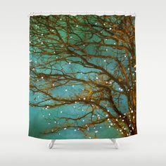 Shower Curtain Bathroom Curtain. Magical tree woodland by tlshd