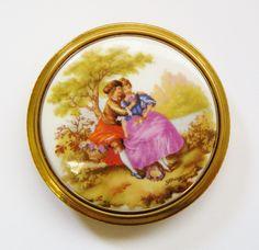Fragonard Porcelain French Compact