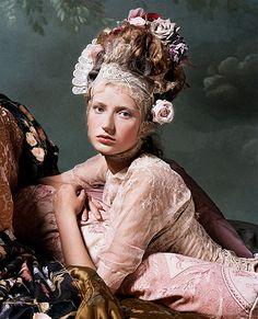Bernard Tartinville (photographer) Antoinette fashion (by Rachel Roses (Countess of Beaumont))