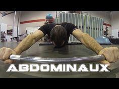 Exercice pour les abdominaux avec barbel ou roue - YouTube