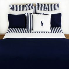 Discover the Ralph Lauren Home Polo Player Navy Duvet Cover – Super King at Amara Bedroom Sets, Bedroom Decor, Master Bedroom, Navy Duvet, Home Living, Modern Living, Living Rooms, My New Room, Bed Design