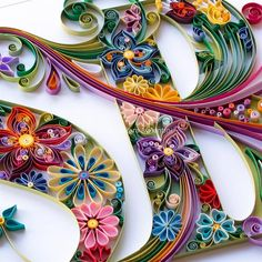 40 Examples of Creative Paper Typography Art By Anna Chiara Valentini fun crafts Quilling Letters, Paper Quilling Flowers, Paper Quilling Patterns, Origami And Quilling, Quilled Paper Art, Quilling Paper Craft, Paper Crafts, Quilling Ideas, Paper Letters