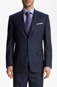 Joseph Abboud 'Signature Silver' Stripe Suit available at #Nordstrom