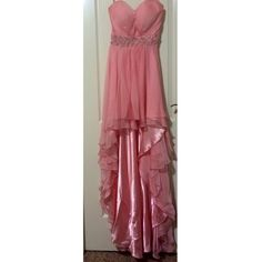 """Spotted while shopping on Poshmark: """"pink strapless high low formal gown""""! #poshmark #fashion #shopping #style #La Femme #Dresses & Skirts"""