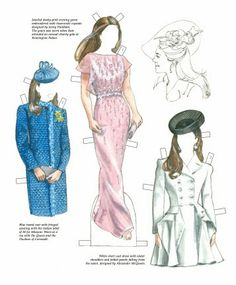 Thepapercollector: Kate Middleton Paper Dolls By Norma Lu Meehan