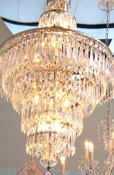 Waterford Crystal - Chandelier displayed in House of Waterford's showroom in Waterford,Ireland