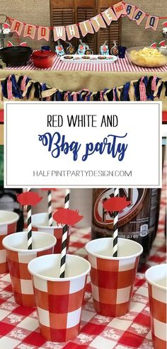 What better way to say hello AND goodbye to summer than a Red, white, and BBQ party? Halfpint Design - summer party, Memorial weekend bbq, 4th of July, Labor Day party, BBQ party, Oktoberfest, neighborhood grill, brat party