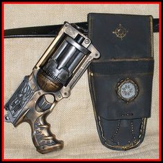 I've seen a lot of modded Nerf Mavericks, but this is probably the prettiest. Awesome gun holster, too.
