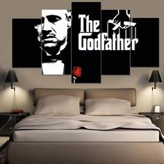 The God Father 5 PANEL CANVAS