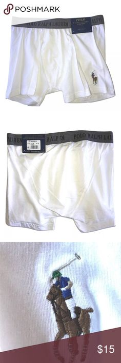 Polo Ralph Lauren Soft Boxer Brief Polo Ralph Lauren Soft Boxer Brief Contour Pouch  •Soft white fabric •Soft stretch logo waistband •Non functional fly - contour pouch •Size Medium •94% Cotton, 6% Spandex •MSRP on tag is $20   Thank you so much! Polo by Ralph Lauren Underwear & Socks Boxer Briefs